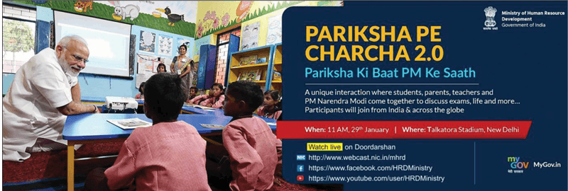 Watch live PARIKSHA PE CHARCHA 2.0 at 11:00 AM, 29th January, 19